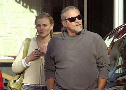 Photo of Cameron Diaz & her Father  Emillio Diaz