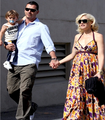 Gwen Stefani, baby and husband picture